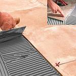 Схема монтажа нагревательной инфракрасной пленки HEAT PLUS под плитку: