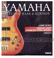 Yamaha Комплект струн для бас-гитары YAMAHA H4070 STAINLESS STEEL MEDIUM LIGHT 6 STRING (32-126)