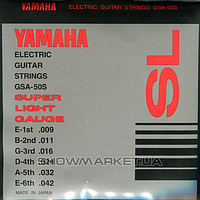 Yamaha Комплект струн для электрогитары YAMAHA GSA50S ELECTRIC SUPER LIGHT (09-42)