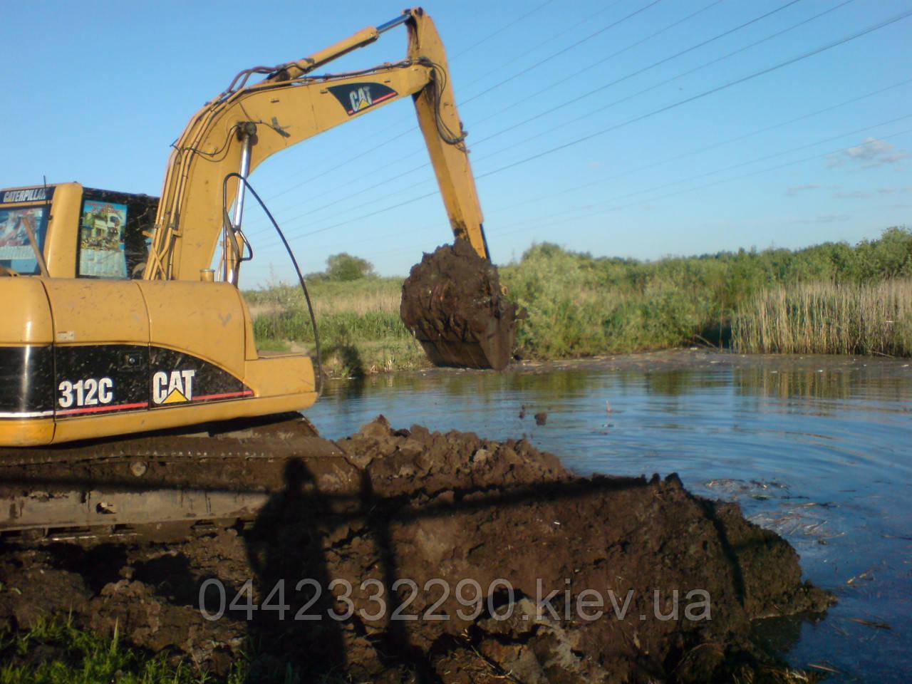 Строительство водоемов - Копка, углубление озер, прудов