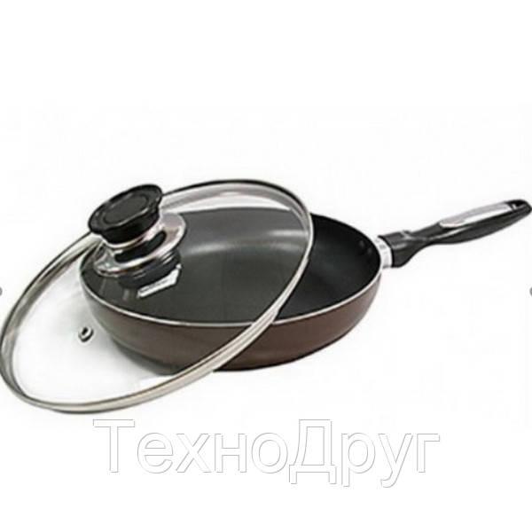 Cковорода с крышкой 28 см Vincent VC-4460-28-mix