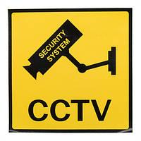 12 x 12см мониторинга безопасности камеры видеонаблюдения предупреждающий знак - 1TopShop