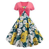 3d ретро хепберн ветер цифровая печать большая качели юбка талия Платье Платье женский 330 - 1TopShop