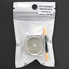 Втирка 19763 пигмент Metalic зеркальная шампань (с аппликатором) 0,5г, фото 2