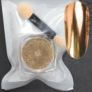 Втирка 19766 пигмент Metalic зеркальная золото бронза (с аппликатором) 0,5г
