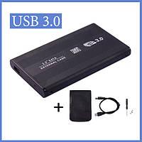 "Внешний Карман для Жесткого диска HDD 2.5"" SATA USB 3.0 Корпус кейс для SSD черный"