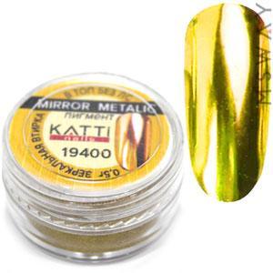 Втирка 19400 пигмент Metalic зеркальная золото яркое с аппликатором 0,5г