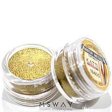 Втирка 19400 пигмент Metalic зеркальная золото яркое с аппликатором 0,5г, фото 2