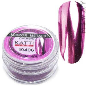 Втирка 19406 пигмент Metalic зеркальная розово сиреневый с аппликатором 0,5г, фото 2
