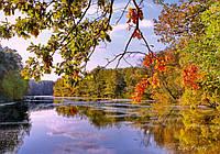 Фотокартина на холсте Осенний Псел в Пашково  50х70 см