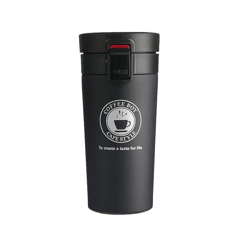 Термокружка Coffee time 380 мл черный (TS-4656)