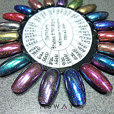 Втирка 19782 пигмент Metalic Multi зеркал. с мелкими мульти блестками TR05 сине бирюза 0,3г, фото 2