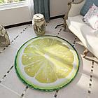 Коврик для дома безворсовый с 3D принтом, круглый, 120 см, Лайм, фото 2