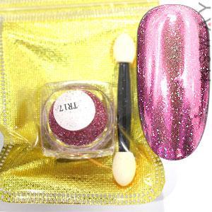 Втирка 19902 пигмент Metalic Multi зеркал. с мелкими мульти блестками TR17 нежно розовый 0,3г