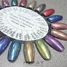 Втирка 19902 пигмент Metalic Multi зеркал. с мелкими мульти блестками TR17 нежно розовый 0,3г, фото 2