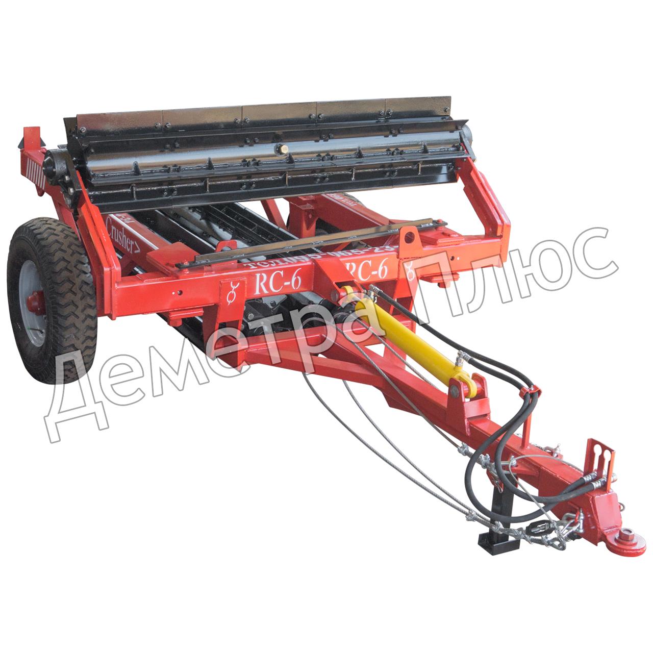 Измельчитель роликовый (мульчирователь) водоналивной RC-6 (прицепной измельчитель растительных остатков)