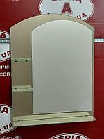 Зеркало арка с тонированным декором на три полки №62 /Дюбель в Подарок