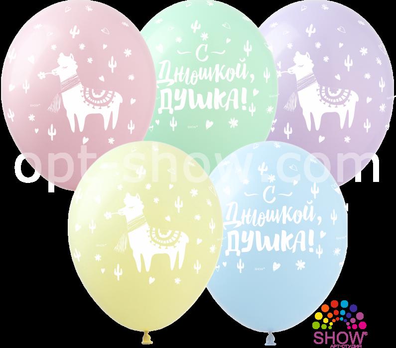 """Воздушные шары """"С Днюшкой"""" макарун 12"""""""