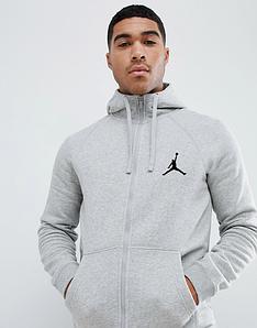 Сірий чоловічий Зимовий спортивний костюм Jordan (Джордан)