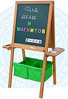 """Мольберт двусторонний """"Пикасо"""", зеленый, 3 цвета"""