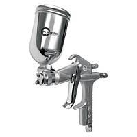 Пневматичний фарборозпилювач HP MINI, форсунка 0.5 мм, верхній металевий бачок 200мл, 5бар INTERTOOL PT-0301
