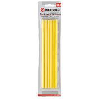 Комплект жовтих клейових стрижнів 7.4 мм*200мм, 12шт. INTERTOOL RT-1051
