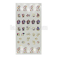 Гибкие наклейки 3D с камнями для дизайна ногтей A-037