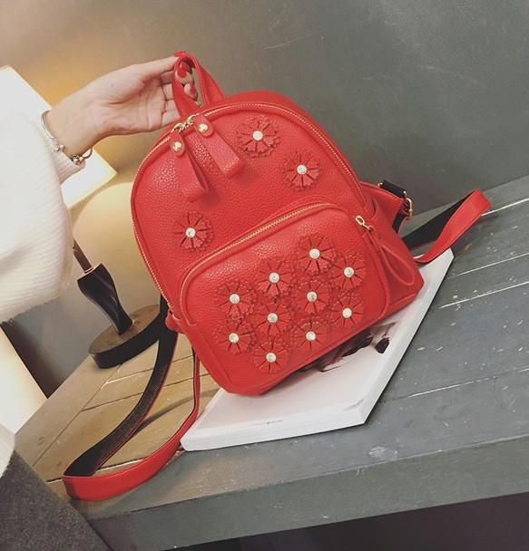 6ddbd61d7be2 Женский городской рюкзак с цветами