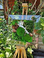 Картина Со Стабилизированным мхом в Стеклянной Рамке, фото 3