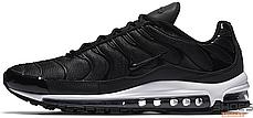 Чоловічі кросівки Nike Air Max Plus 97 Black White AH8144-001, Найк Аір Макс Плюс 97, фото 2