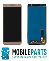 Дисплей для Samsung J600 Galaxy J6 2018 с сенсорным стеклом  Яркость регулируется (Золотой) TFT подсветка ориг