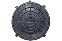 Люк полимерный круглый чёрный 1,5т
