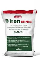 Удобрение для газона с железом - 9 Iron Minis 9-9-9 (22,7 кг) Simplot (США)