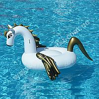 Надувной матрас Пегас с золотыми крыльями