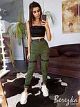 Женский летние брюки на манжетах с ремешками и завышенной талией 6612361Е, фото 2