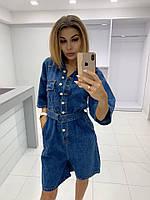 Комбинезоны джинсовые молодежка 2 цвета М (44-46)