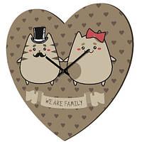 Годинник у формі серця, We are family (CHS_P_16L089)