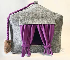 Домик лежанка со съемной подушкой для кота, собаки