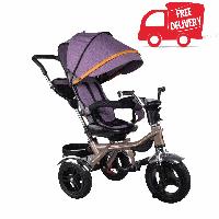 Трехколесный детский велосипед VELOBABY GS-401 Фиолетовый на белой раме.  БЕСПЛАТНАЯ доставка!