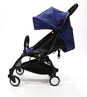 СУПЕР лёгкая и удобная детская прогулочная коляска YOYA 165 обновлённая (Оксфорд 3-ярусная) Синяя