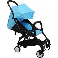 СУПЕР лёгкая и удобная детская прогулочная коляска YOYA 165 обновлённая (Оксфорд 3-ярусная) Голубой