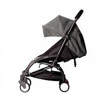СУПЕР лёгкая и удобная детская прогулочная коляска YOYA 165 обновлённая (Оксфорд 3-ярусная) Тёмно-серая