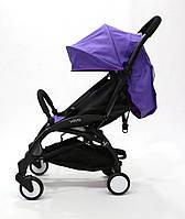 СУПЕР лёгкая и удобная детская прогулочная коляска YOYA 165 обновлённая (Оксфорд 3-ярусная) Фиолетовая