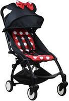 СУПЕР лёгкая и удобная детская прогулочная коляска YOYA 165 обновлённая (Оксфорд 3-ярусная) Минни
