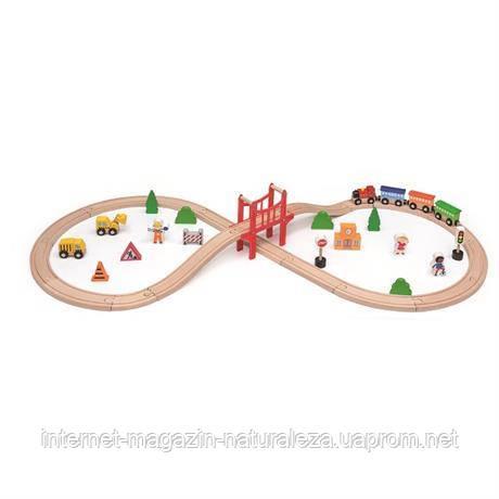 Детская железная дорога Viga Toys 39 деталей, фото 2