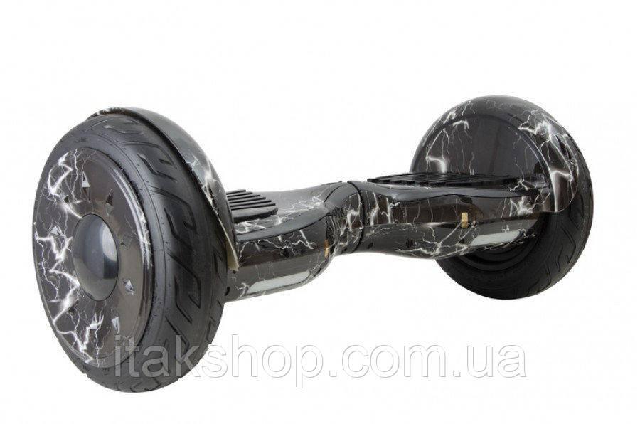 Гироборд Smart Balance Wheel U8 TaoTao APP 10,5 дюймов lightning (молния) с самобалансом и колонкой