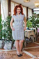 Летнее льняное большое платье , фото 1