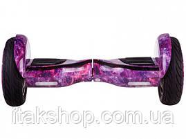 Гироборд Smart Balance Wheel U8 TaoTao 10,5 дюймов purple space (филетовый космос) с самобалансом и колонкой, фото 3