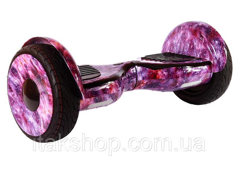 Гироборд Smart Balance Wheel U8 TaoTao 10,5 дюймов purple space (филетовый космос) с самобалансом и колонкой