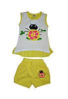 Футболка и шорты комплект летний детский для девочки с рисунком Божья коровка